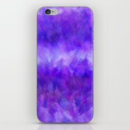 Dappled Blue Violet Abstract iPhone Skin