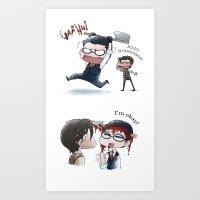 jojo Art Prints featuring JOJO NOOOOO by Yiji