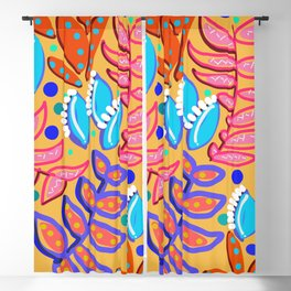 Whimsical Leaves Pattern Blackout Curtain