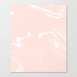 Pink With White Liquid Paint Canvas Print