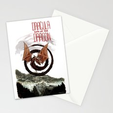 Spiral Dragon over Poenari Castle Stationery Cards
