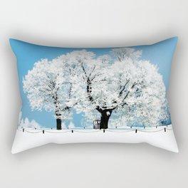 Tardis With Tree Blossom Christmas Rectangular Pillow