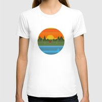camping T-shirts featuring Camping by Becky Gibson