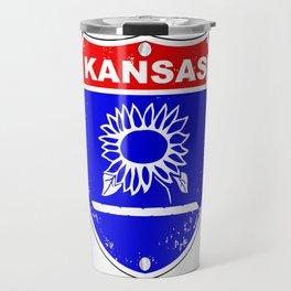 Kansas Interstate Sign Travel Mug