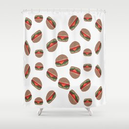 Its Raining Cheeseburgers Shower Curtain
