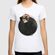 Life on Earth | Collage Womens Fitted Tee MEDIUM Ash Grey