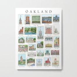 Oakland Landmarks Metal Print