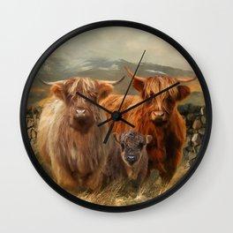 Hairy Coo's Wall Clock