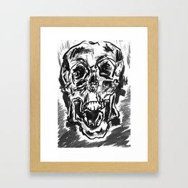 Shout skulls Framed Art Print