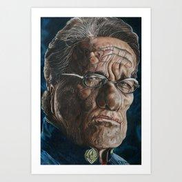 Edward Olmos Warp Art Print