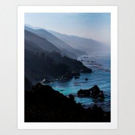 Big Sur Blue Art Print