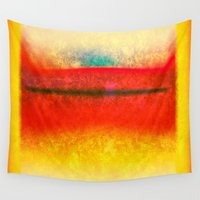 rothko Wall Tapestries featuring After Rothko 8 by Gary Grayson
