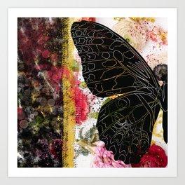 In Flight - Butterfly - Digital Art Art Print
