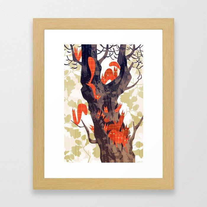 The Devils of Dark Bark Framed Art Print