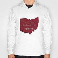 ohio state Hoodies featuring OHIO by Amanda Pavlich