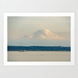 Mt. Rainier from the Ferry Art Print