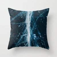 Throw Pillows featuring ICE II by Tasha Marie