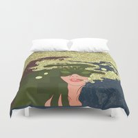 cigarettes Duvet Covers featuring Heavy Smoke by Rendra Sy