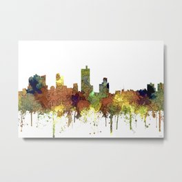 Fort Worth, Texas Skyline SG - Safari Buff Metal Print