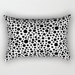Hand drawn polka dot pattern - Black Rectangular Pillow