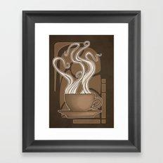 Coffee Nouveau Framed Art Print