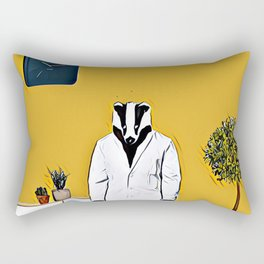 Doctor badger Rectangular Pillow