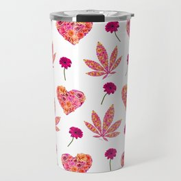 i Heart Pot Leaf Travel Mug