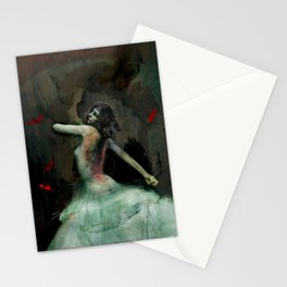 Origami Ballerina  Stationery Cards