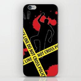 Crime Scene Design (Police Line Do Not Cross) iPhone Skin
