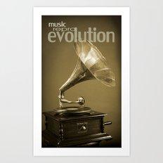 Music Evolution Art Print