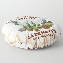 Milagritos Cacti and Succulents Nursery Floor Pillow