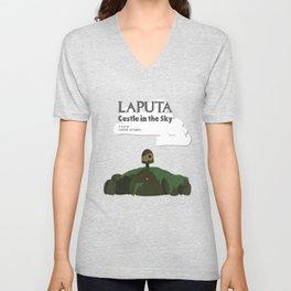 Laputa Castle in the Sky Unisex V-Neck