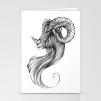 ram Stationery Cards featuring Ram by Judy Csotsits