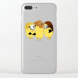 The Three Minion Graces Clear iPhone Case