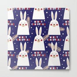 Mery Bunny Metal Print
