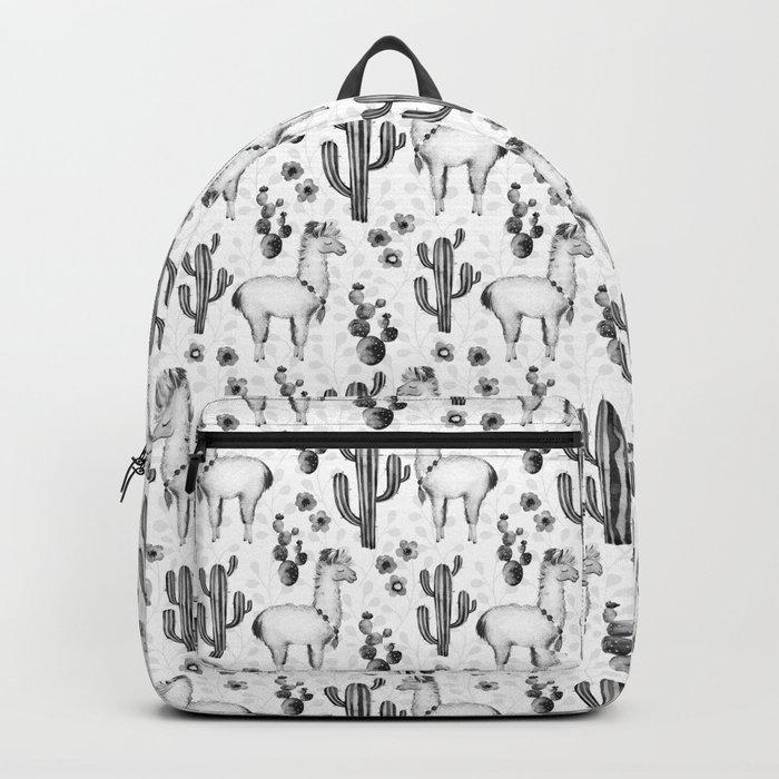 Llama Llamarama + Cactus Pattern Backpack
