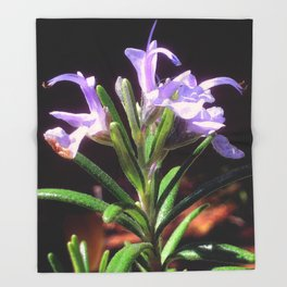 Flowering Rosemary Throw Blanket