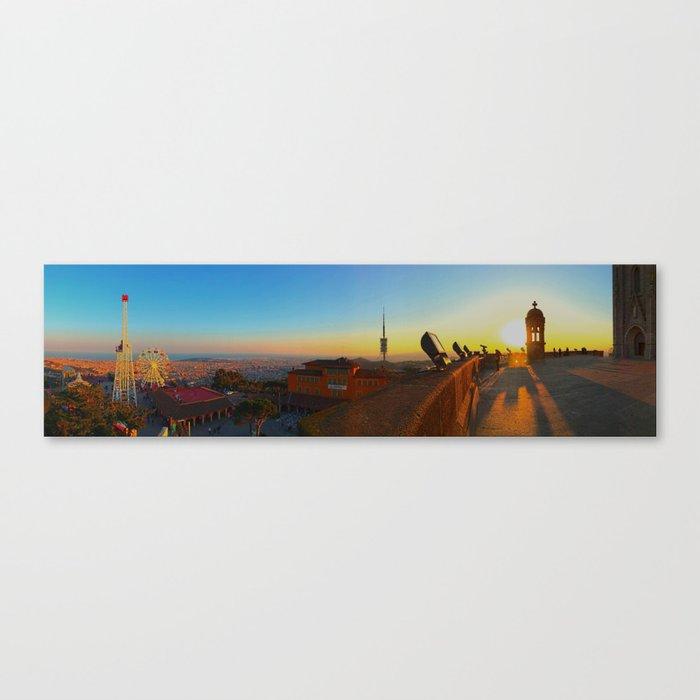 Barcelona Tibidabo Amusement Park Canvas Print