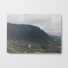 Through the Green Mountain - Hawaii Metal Print