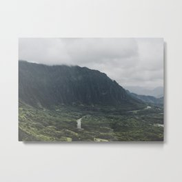 Through the Green Mountain - Hawaii Metal Print