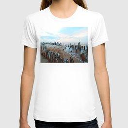 Water licks the Wharf's Remains T-shirt