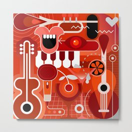 Music & Cocktail Metal Print