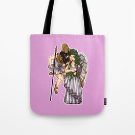 Athena and Medusa Tote Bag