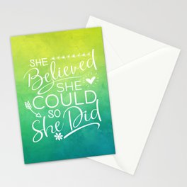 she believed she could II Stationery Cards