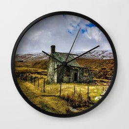 Derilict in the Yorks Dales Wall Clock