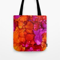 fierce Tote Bags featuring Fierce by Claire Day