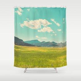Rocky Mountain Meadow Shower Curtain