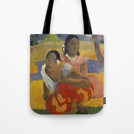 Paul Gauguin -  Nafea Faa Ipoipo (When Will You Marry?) Tote Bag