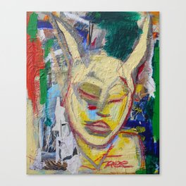Listen - Original painting Marina Taliera Canvas Print