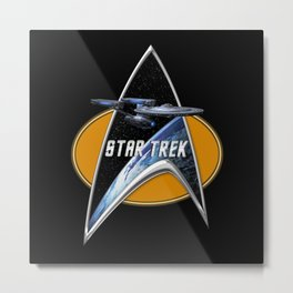 StarTrek Enterprise Refit Command Signia Chest Metal Print